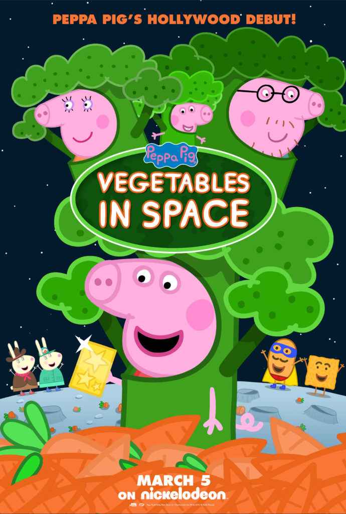 vegetables in space peppa poster